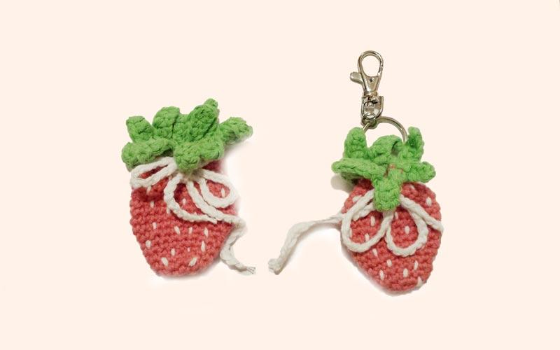 Gehäkelter Erdbeere Anhänger Neue Strickideen