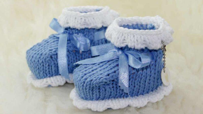 einfache Babyschuhe stricken