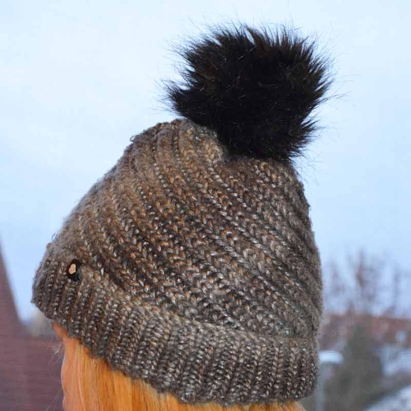Mütze mit Pompon stricken