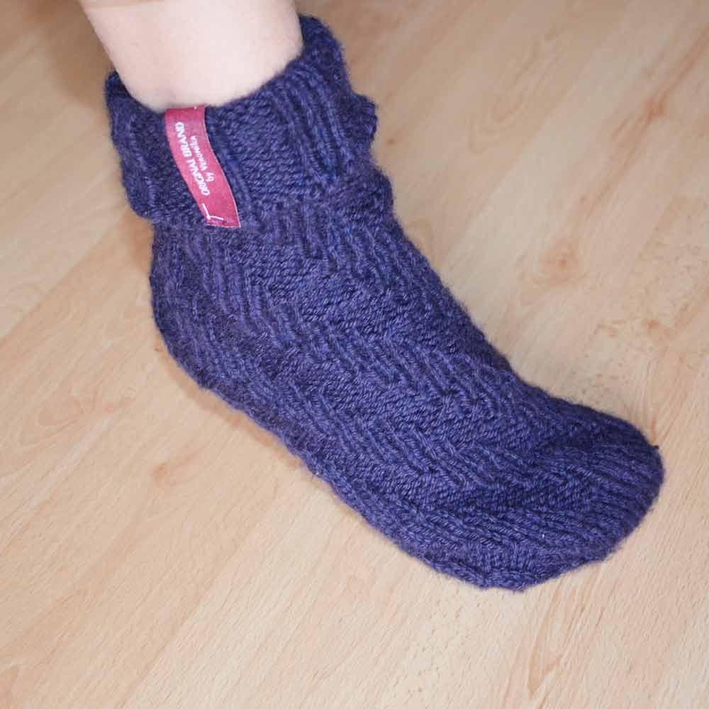 Socken ohne Ferse stricken